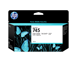 HP 745 130-ml DesignJet Photo Black Ink Cartridge