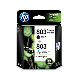 HP 803 2-pack Economy Black/Tri-color Original Ink Cartridges