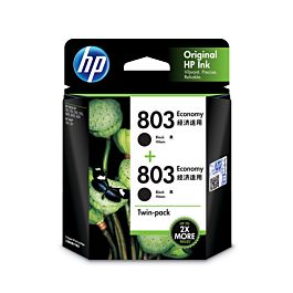 HP 803 2-pack Economy Black Ink Cartridges