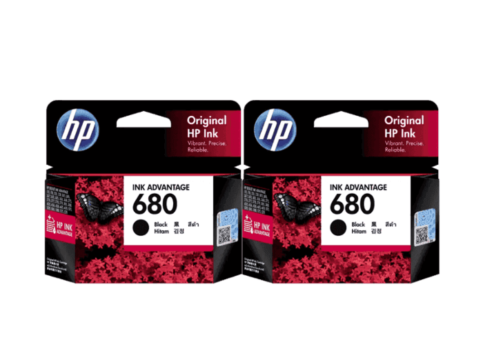 HP 680 Black combo Ink Cartridge (Set of 2 Black Cartridge)