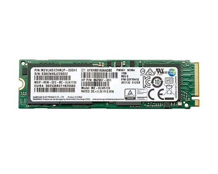 HP 512 GB TLC PCIe 3x4 NVMe M 2 Solid State Drive