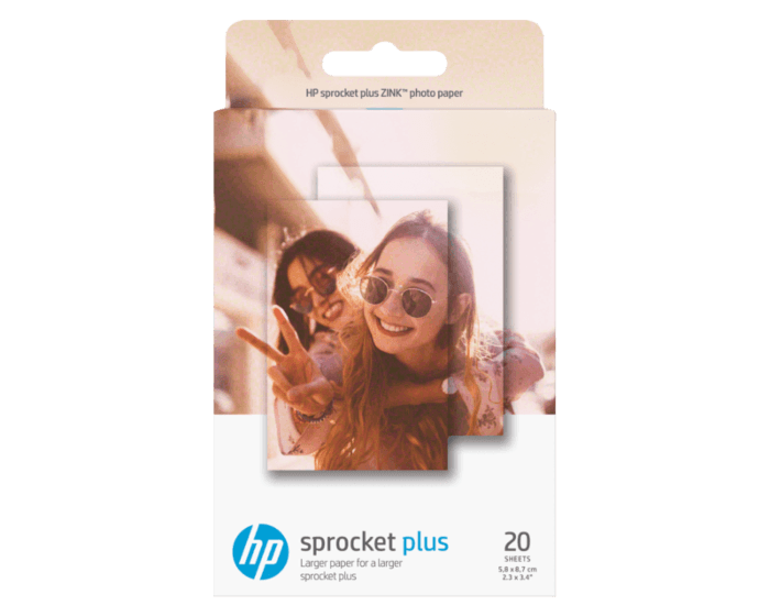 HP Sprocket 2.3 x 3.4 in (5.8 x 8.7 cm) Photo Paper-20 sheets