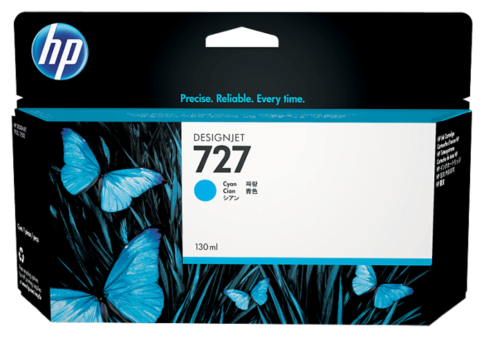 HP 727 130-ml Cyan DesignJet Ink Cartridge