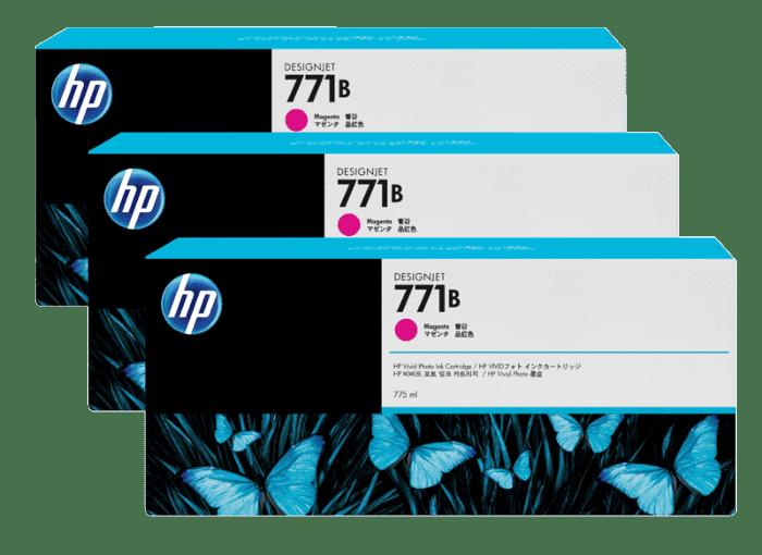 HP 771B 3-pack 775-ml Magenta DesignJet Ink Cartridges