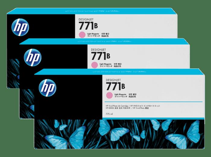 HP 771B 3-pack 775-ml Light Magenta DesignJet Ink Cartridges