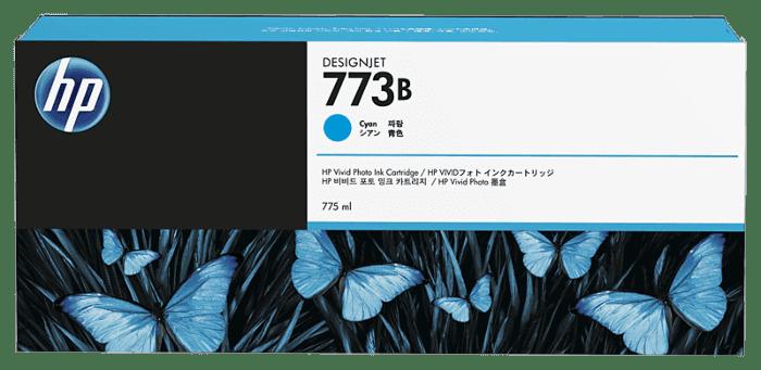 HP 773B 775-ml Cyan DesignJet Ink Cartridge