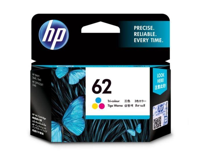 HP 62 2-pack Black//Tri-color Original Ink Cartridges