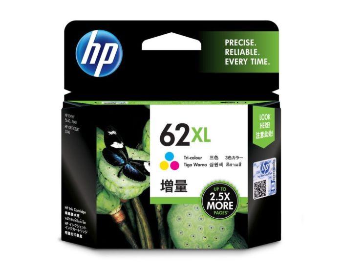 HP 62XL High Yield Tri-color Original Ink Cartridge