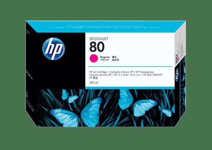 HP 80 350-ml Magenta DesignJet Ink Cartridge