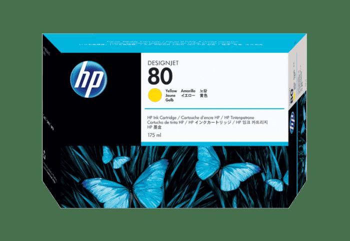 HP 80 175-ml Yellow DesignJet Ink Cartridge