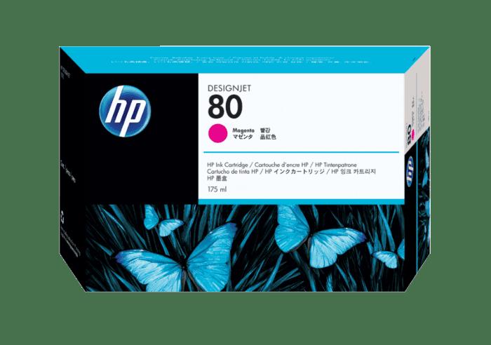 HP 80 175-ml Magenta DesignJet Ink Cartridge