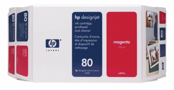 HP 80 Value Pack 350-ml Magenta DesignJet Ink Cartridge and Printhead