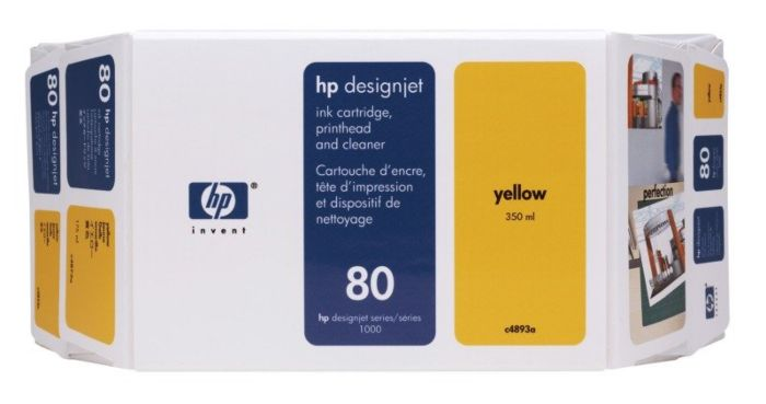 HP 80 Value Pack 350-ml Yellow DesignJet Ink Cartridge and Printhead