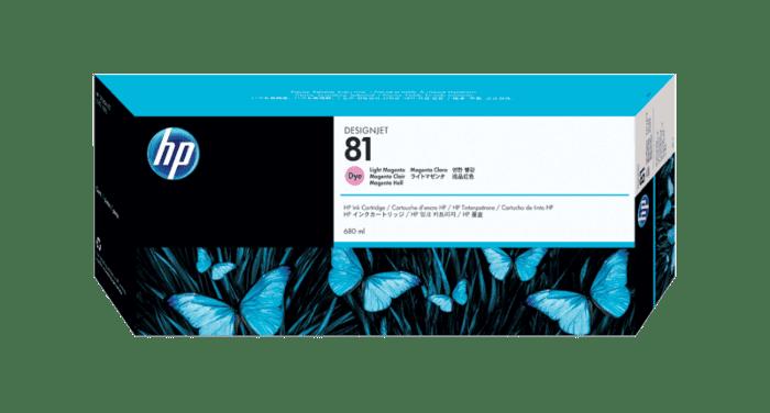 HP 81 680-ml Light Magenta DesignJet Dye Ink Cartridge