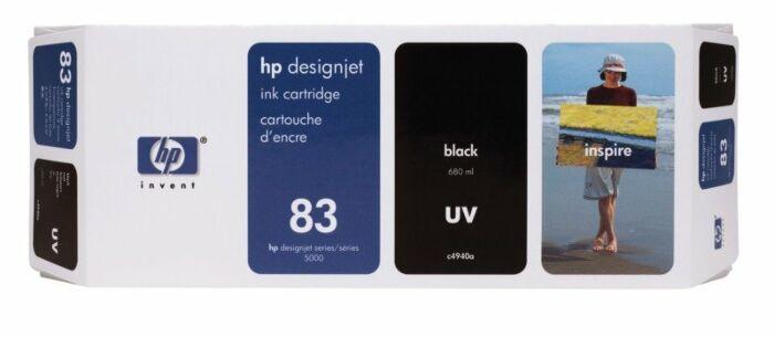 HP 83 680-ml Black DesignJet UV Ink Cartridge
