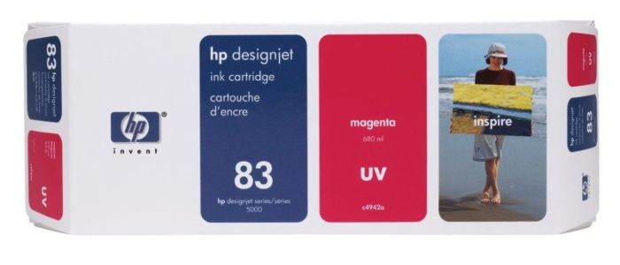 HP 83 680-ml Magenta DesignJet UV Ink Cartridge
