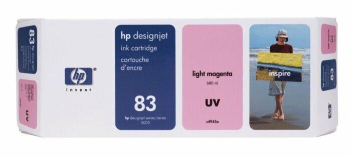 HP 83 680-ml Light Magenta DesignJet UV Ink Cartridge