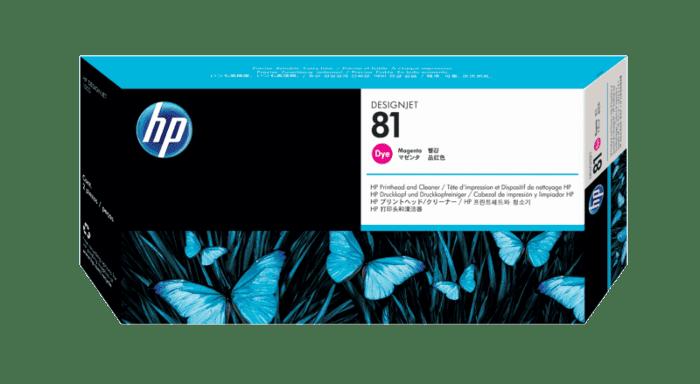 HP 81 Magenta DesignJet Dye Printhead and Printhead Cleaner