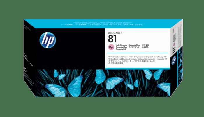 HP 81 Light Magenta DesignJet Dye Printhead and Printhead Cleaner