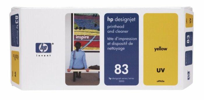 HP 83 Yellow DesignJet UV Printhead and Printhead Cleaner
