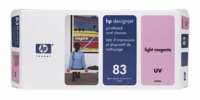 HP 83 Light Magenta DesignJet UV Printhead and Printhead Cleaner