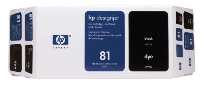 HP 81 Value Pack 680-ml Black DesignJet Dye Ink Cartridge and Printhead