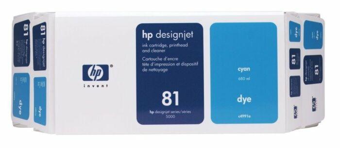 HP 81 Value Pack 680-ml Cyan DesignJet Dye Ink Cartridge and Printhead