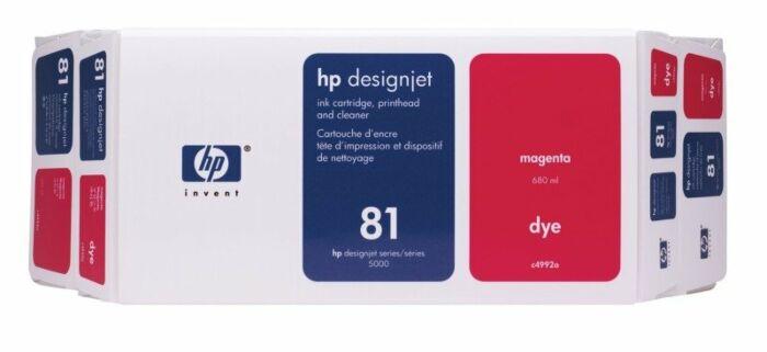 HP 81 Value Pack 680-ml Magenta DesignJet Dye Ink Cartridge and Printhead