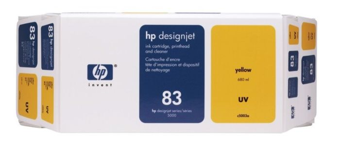 HP 83 Value Pack 680-ml Yellow DesignJet UV Ink Cartridge and Printhead