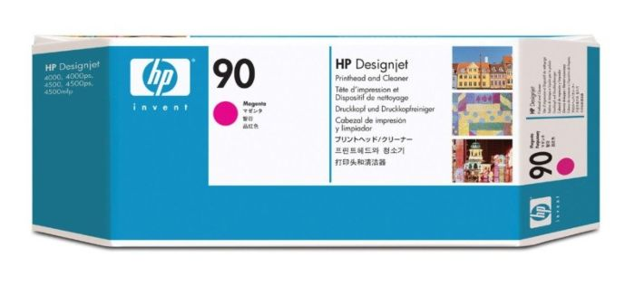 HP 90 Magenta DesignJet Printhead and Printhead Cleaner