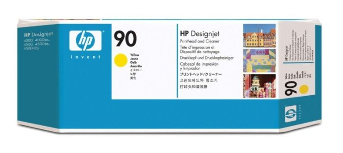 HP 90 Yellow DesignJet Printhead and Printhead Cleaner