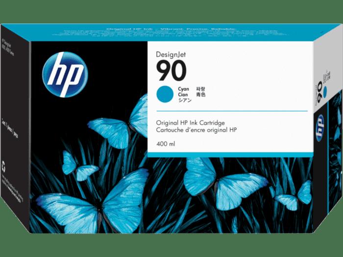 HP 90 400-ml Cyan DesignJet Ink Cartridge