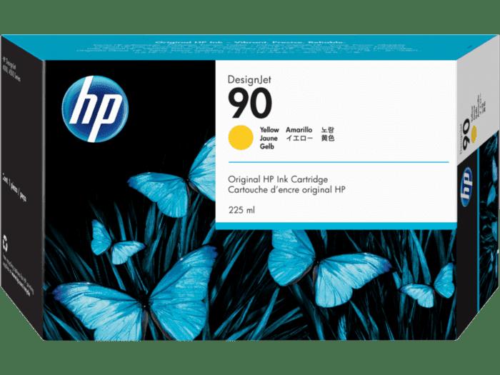 HP 90 225-ml Yellow DesignJet Ink Cartridge