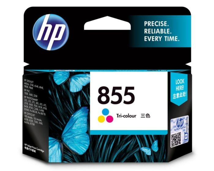 HP 855 Tri-color Original Ink Cartridge