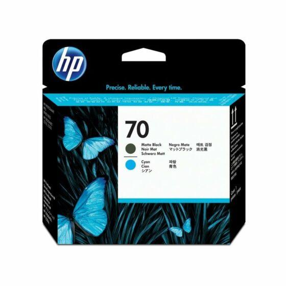 HP 70 Matte Black and Cyan DesignJet Printhead