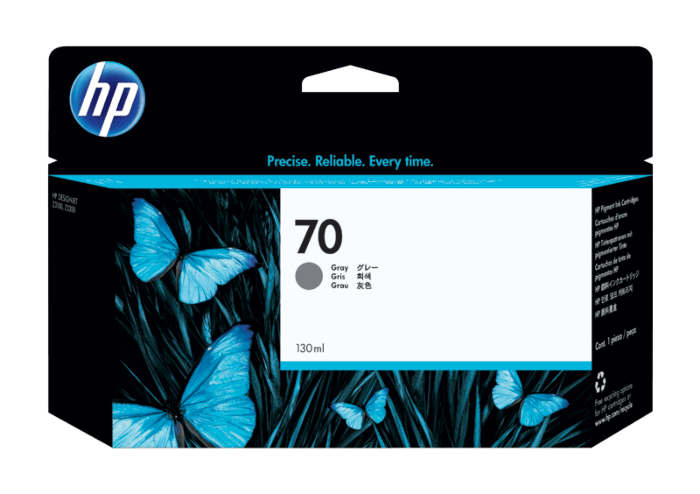 HP 70 130-ml Gray DesignJet Ink Cartridge