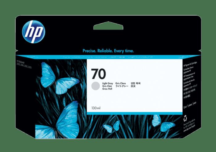 HP 70 130-ml Light Gray DesignJet Ink Cartridge