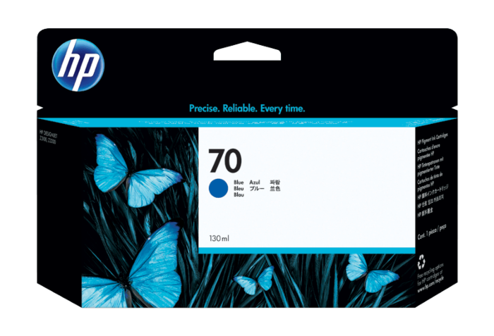 HP 70 130-ml Blue DesignJet Ink Cartridge