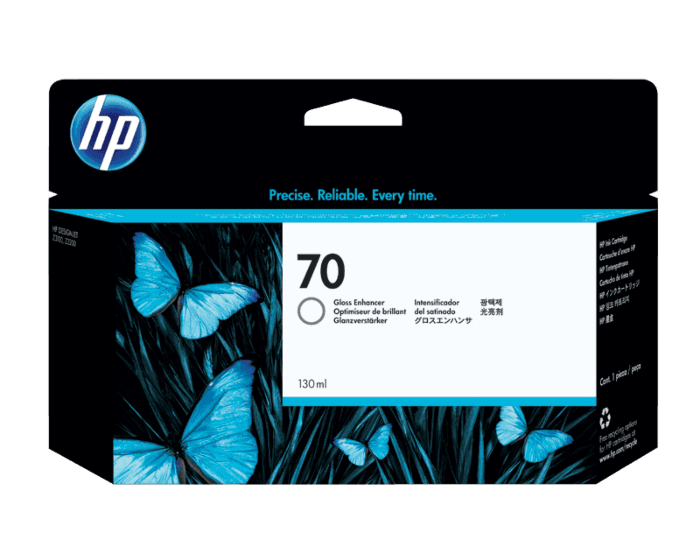 HP 70 130-ml Gloss Enhancer DesignJet Ink Cartridge