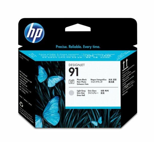 HP 91 Photo Black and Light Gray DesignJet Printhead