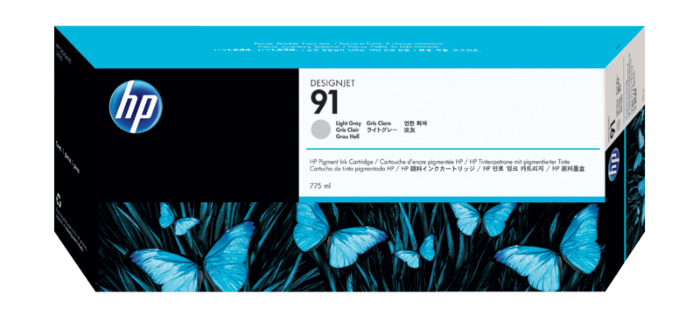 HP 91 775-ml Light Gray DesignJet Pigment Ink Cartridge