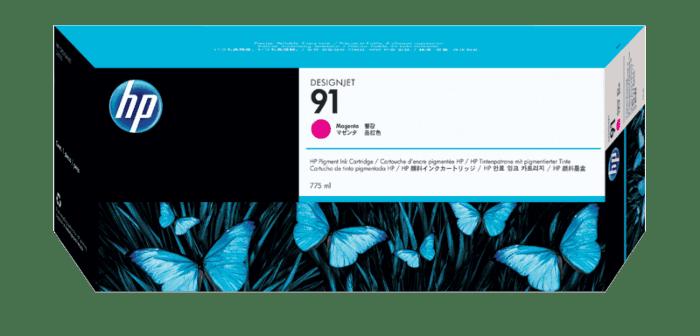 HP 91 775-ml Magenta DesignJet Pigment Ink Cartridge