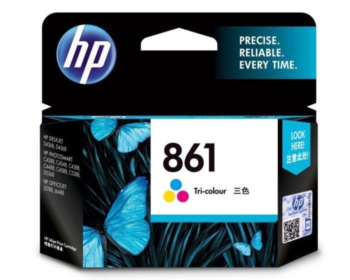 HP 861 Tri-color Original Ink Cartridge