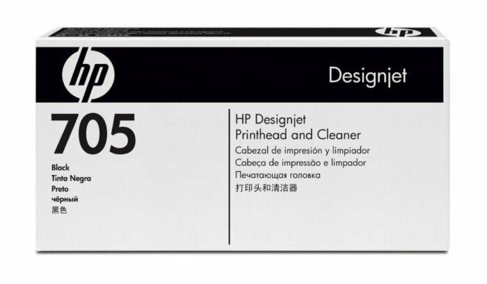 HP 705 Black DesignJet Printhead and Printhead Cleaner