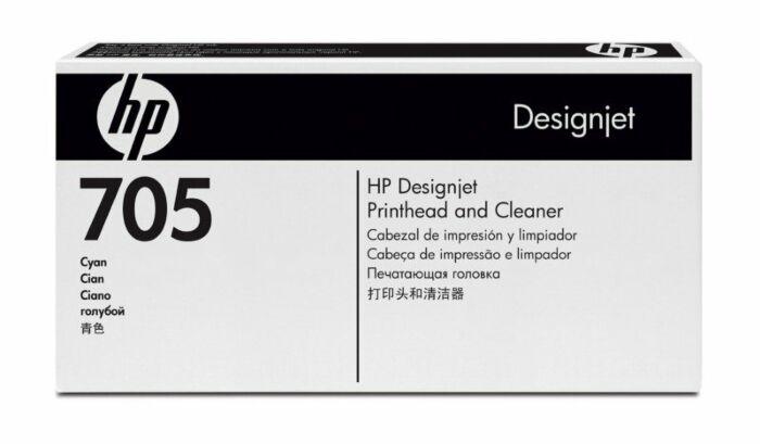 HP 705 Cyan DesignJet Printhead and Printhead Cleaner