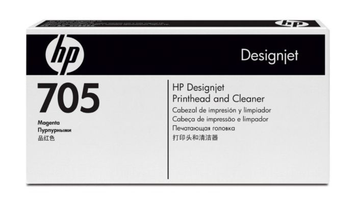 HP 705 Magenta DesignJet Printhead and Printhead Cleaner