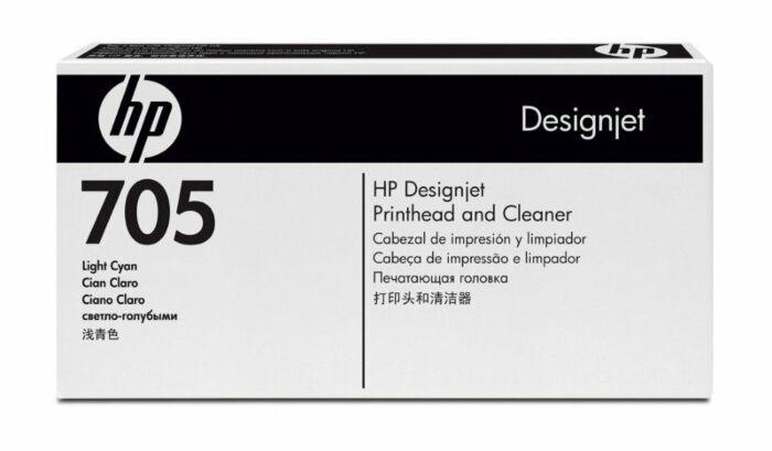 HP 705 Light Cyan DesignJet Printhead and Printhead Cleaner
