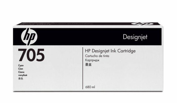 HP 705 680-ml Cyan DesignJet Ink Cartridge