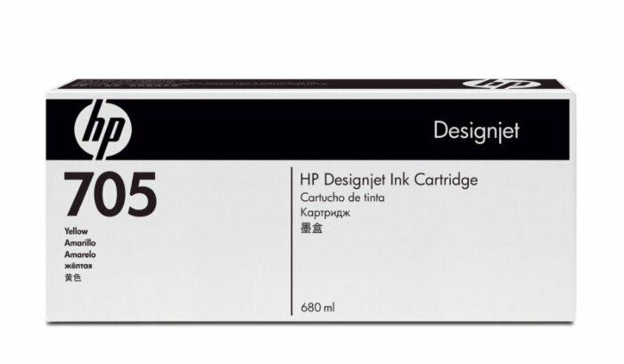 HP 705 680-ml Yellow DesignJet Ink Cartridge