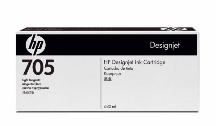 HP 705 680-ml Light Magenta DesignJet Ink Cartridge